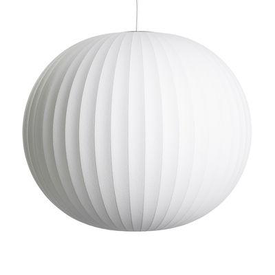 Luminaire - Suspensions - Suspension Bubble Ball / Large - Motifs verticaux - Hay - Ø 68 cm / Blanc cassé - Acier