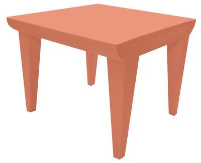 Table basse Bubble Club / 51 x 51 cm - Kartell terre de sienne en matière plastique