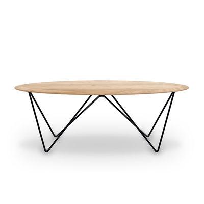 Mobilier - Tables basses - Table basse Orb / Chêne massif & métal - 130 x 60 cm - Ethnicraft - Chêne & noir - Chêne massif certfié FSC, Métal verni