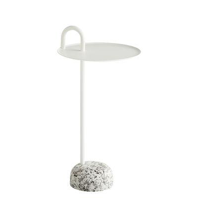 Table d'appoint Bowler / Métal & granit - Hay gris,crème en métal