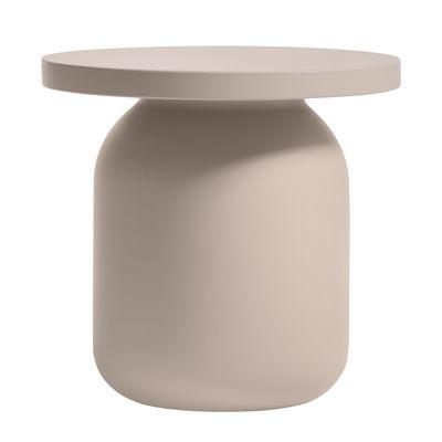 Mobilier - Tables basses - Table d'appoint Juju / Tabouret ø 52 cm - Serralunga - Taupe - Polyéthylène