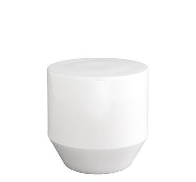 Mobilier - Tables basses - Table d'appoint Soixante 3 / Grès - Ø 40 x H 40 cm - Cinna - Blanc - Grès émaillé