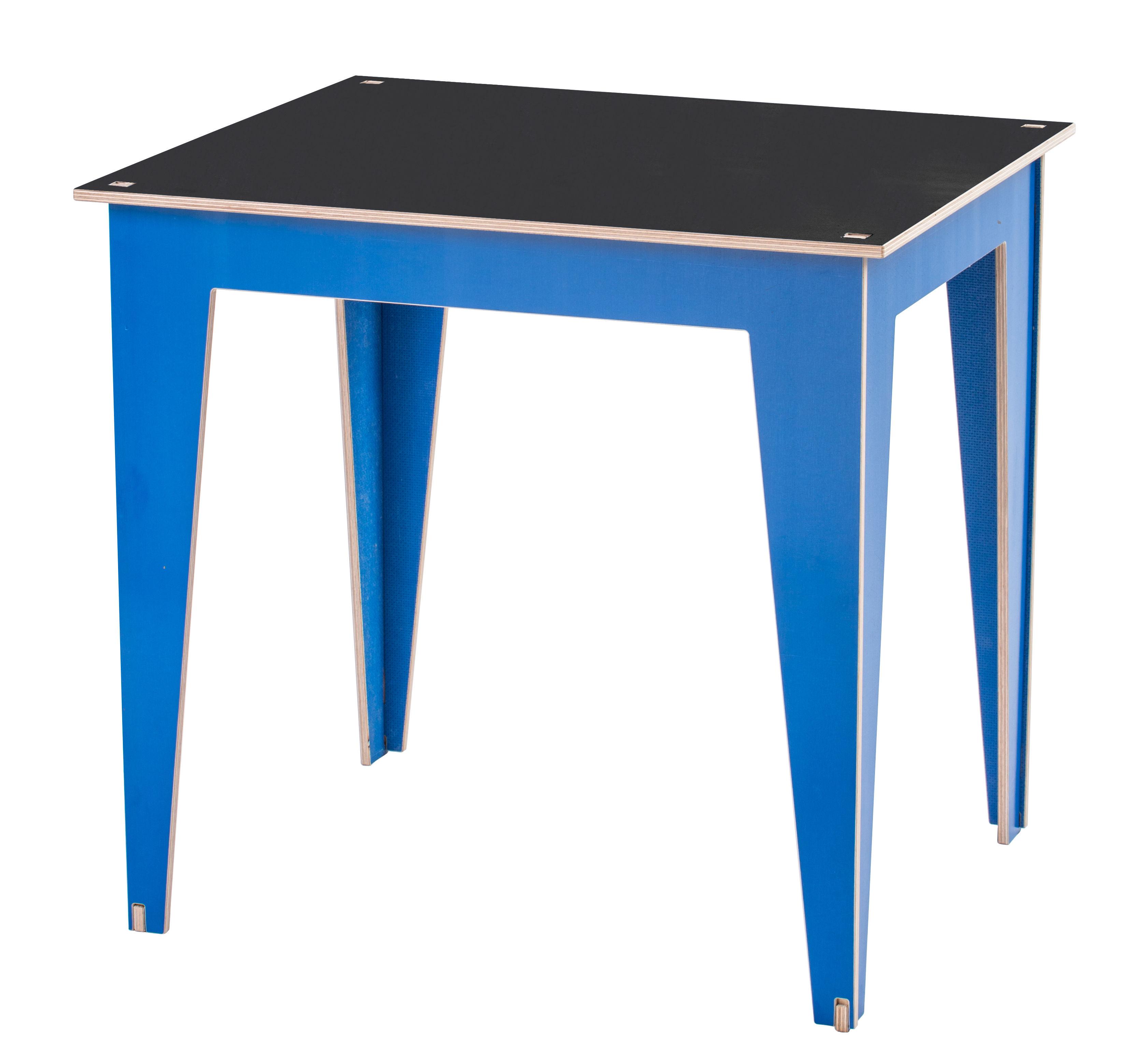 Table enfant Kidiki / Plateau ardoise Ardoise noire / Pieds bleus ...
