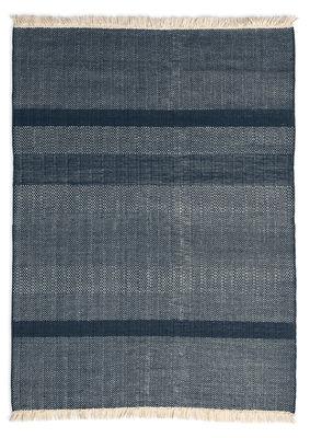 Déco - Tapis - Tapis Tres Texture / 170 x 240 cm - Nanimarquina - Bleu - Feutre, Laine de Nouvelle-Zélande