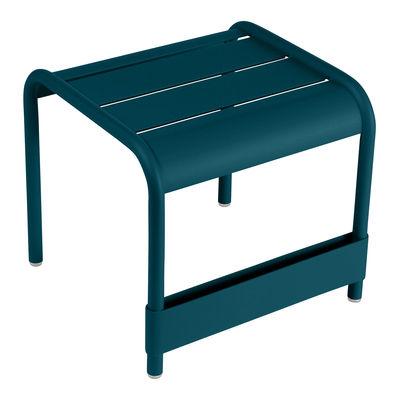 Arredamento - Tavolini  - Tavolino d'appoggio Luxembourg - / Pouf - L 42 cm di Fermob - Blu Acapulco - Alluminio laccato