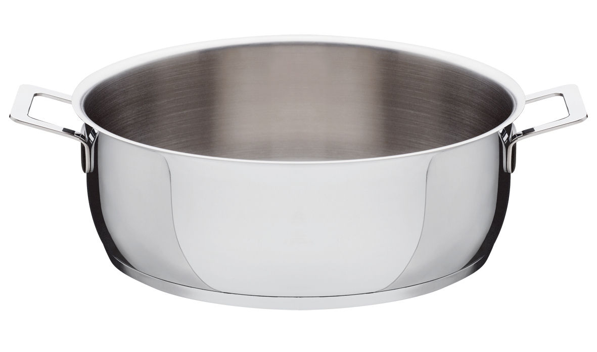 Cucina - Pentole, Padelle e Casseruole - Tegame Pots and Pans - 2 maniglie di A di Alessi - Ø 28 cm - Acciaio inossidabile
