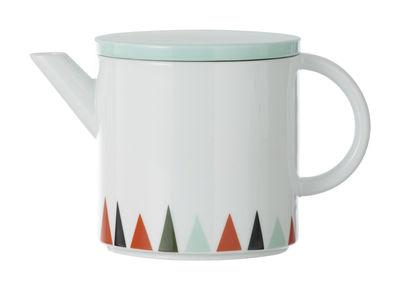 Arts de la table - Thé et café - Théière - Ferm Living - Vert d'eau, orange, noir - Porcelaine