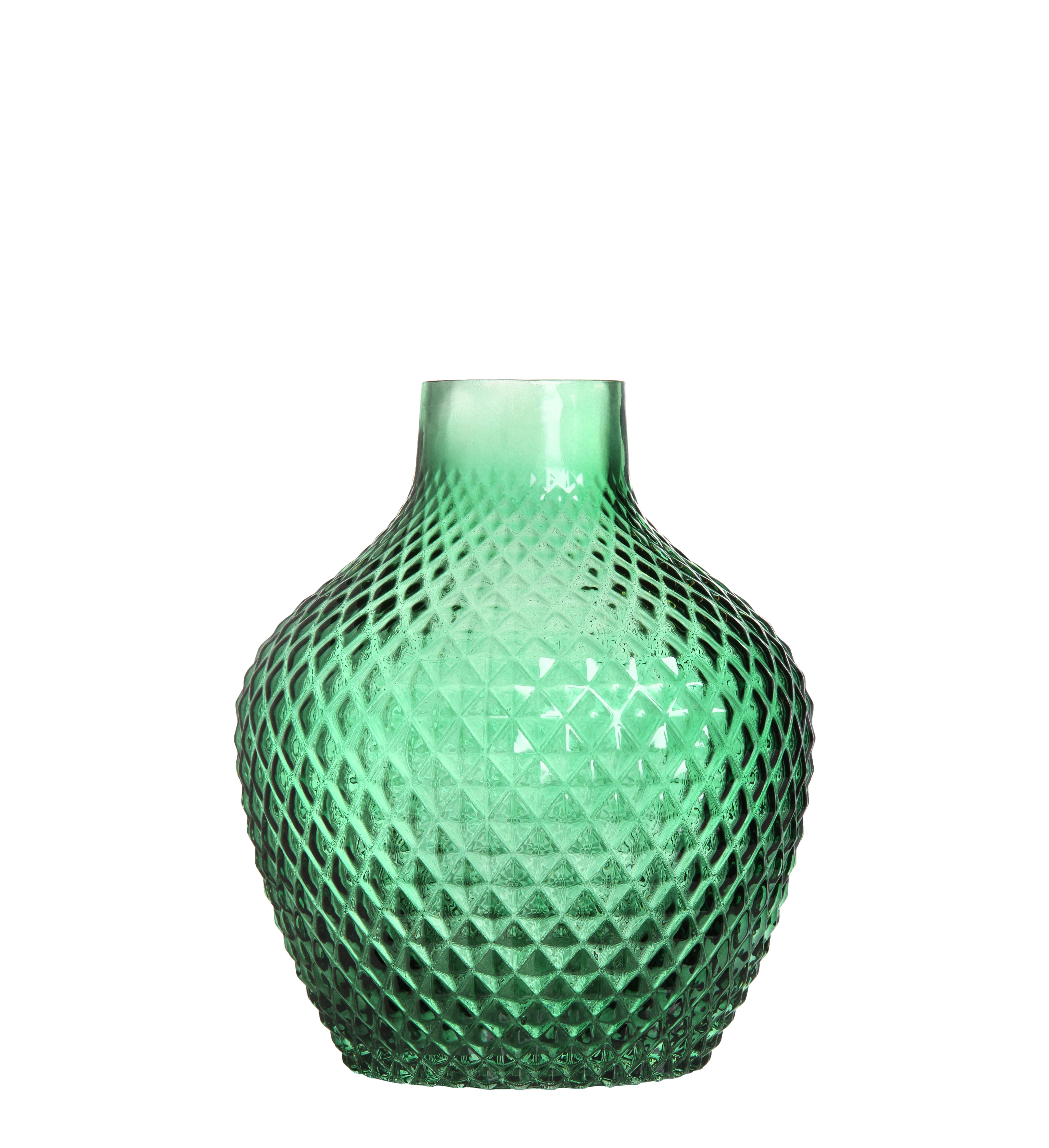 Decoration - Vases - 70 Round Vase - / Ø 17 x H 20 cm by & klevering - Green - Glass