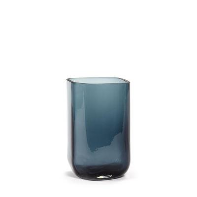 Déco - Vases - Vase Silex Small / H 21 cm - Serax - Bleu fumé - Verre soufflé bouche