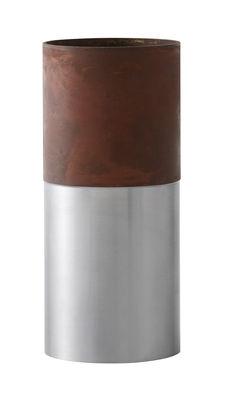 Déco - Vases - Vase True Colour LP4 / Acier - Ø 8 x  H 10 cm - &tradition - Acier & marron - Acier