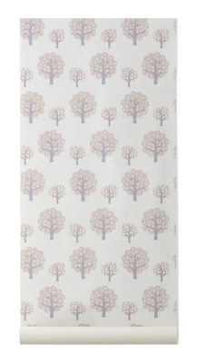Decoration - Children's Home Accessories - Dotty Wallpaper - 1 panel by Ferm Living - Rose, grey, light rose - Non-woven fabric