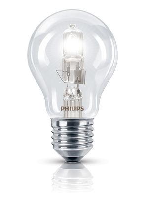 Ampoule Eco-halogène E27 EcoClassic Standard / 53W (70W) - 850 lumen - Philips transparent en verre