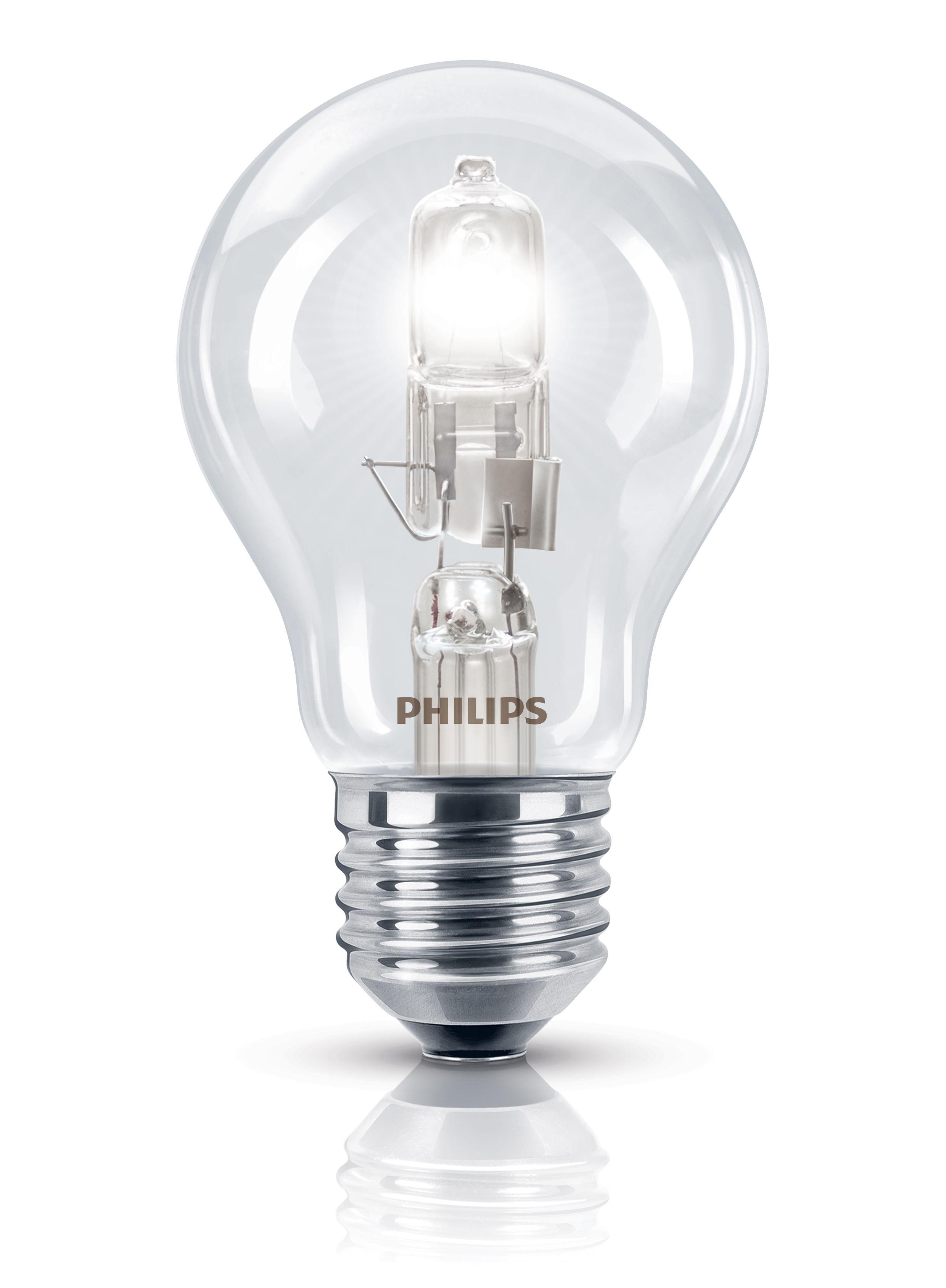 Luminaire - Ampoules et accessoires - Ampoule Eco-halogène E27 EcoClassic Standard / 53W (70W) - 850 lumen - Philips - 53W (70W) - Métal, Verre
