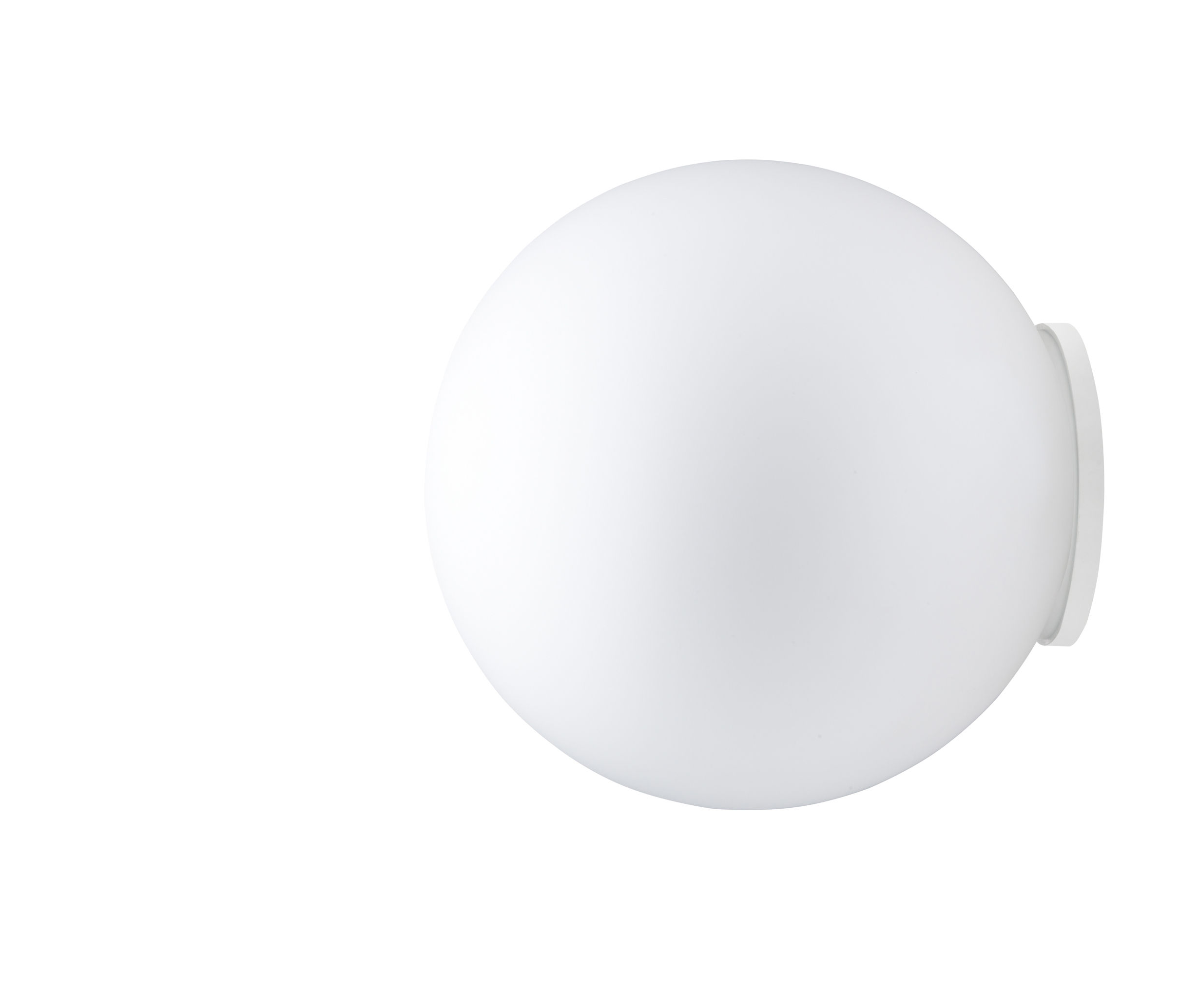 Luminaire - Appliques - Applique Sfera Ø 35 cm - Fabbian - Blanc - Ø 35 cm - Verre