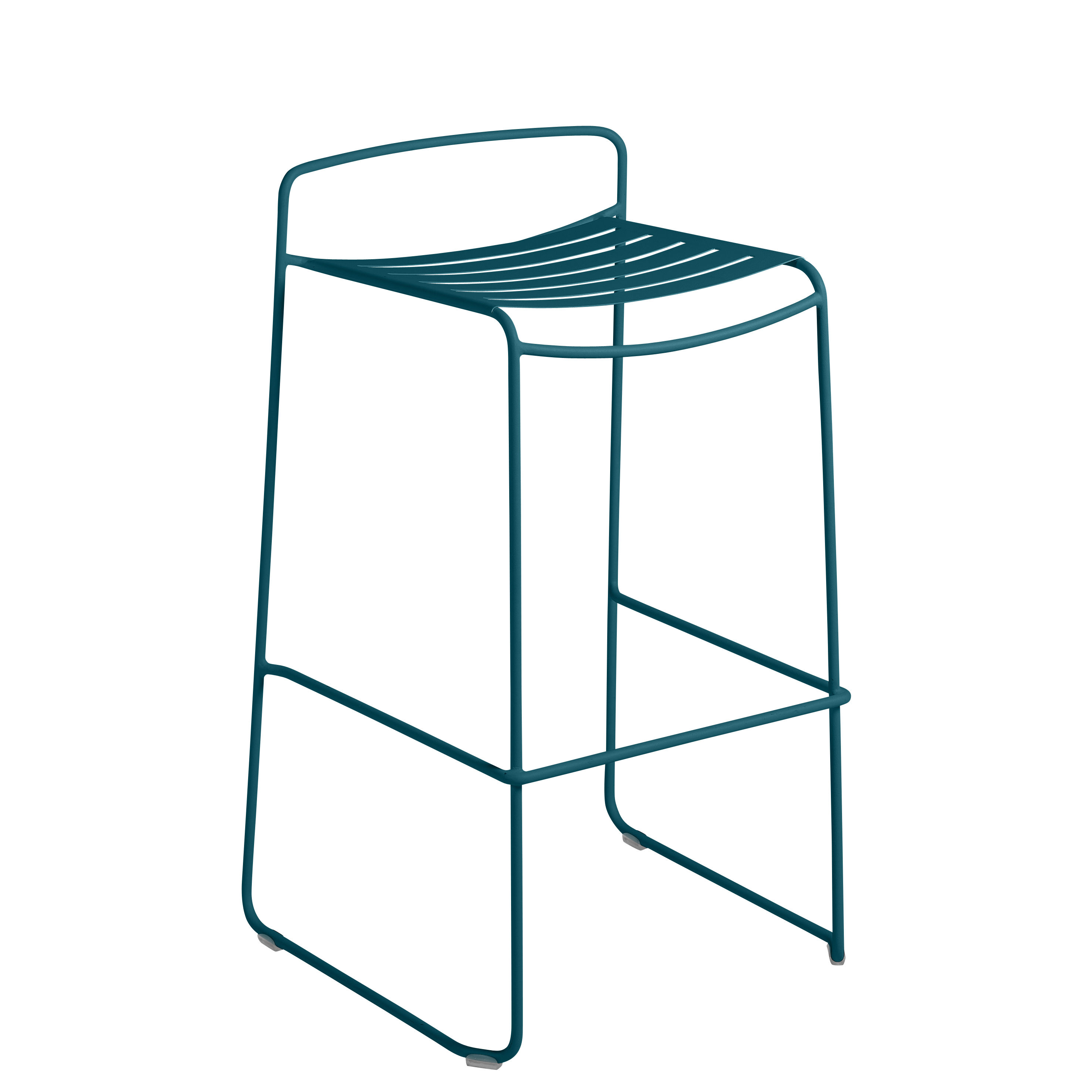 Möbel - Barhocker - Surprising Barhocker / Metall - H 78 cm - Fermob - Acapulcoblau - bemalter Stahl