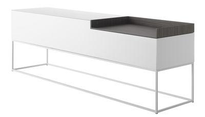 Buffet Inmotion / L 203 cm - Piètement cadre - MDF Italia blanc en bois