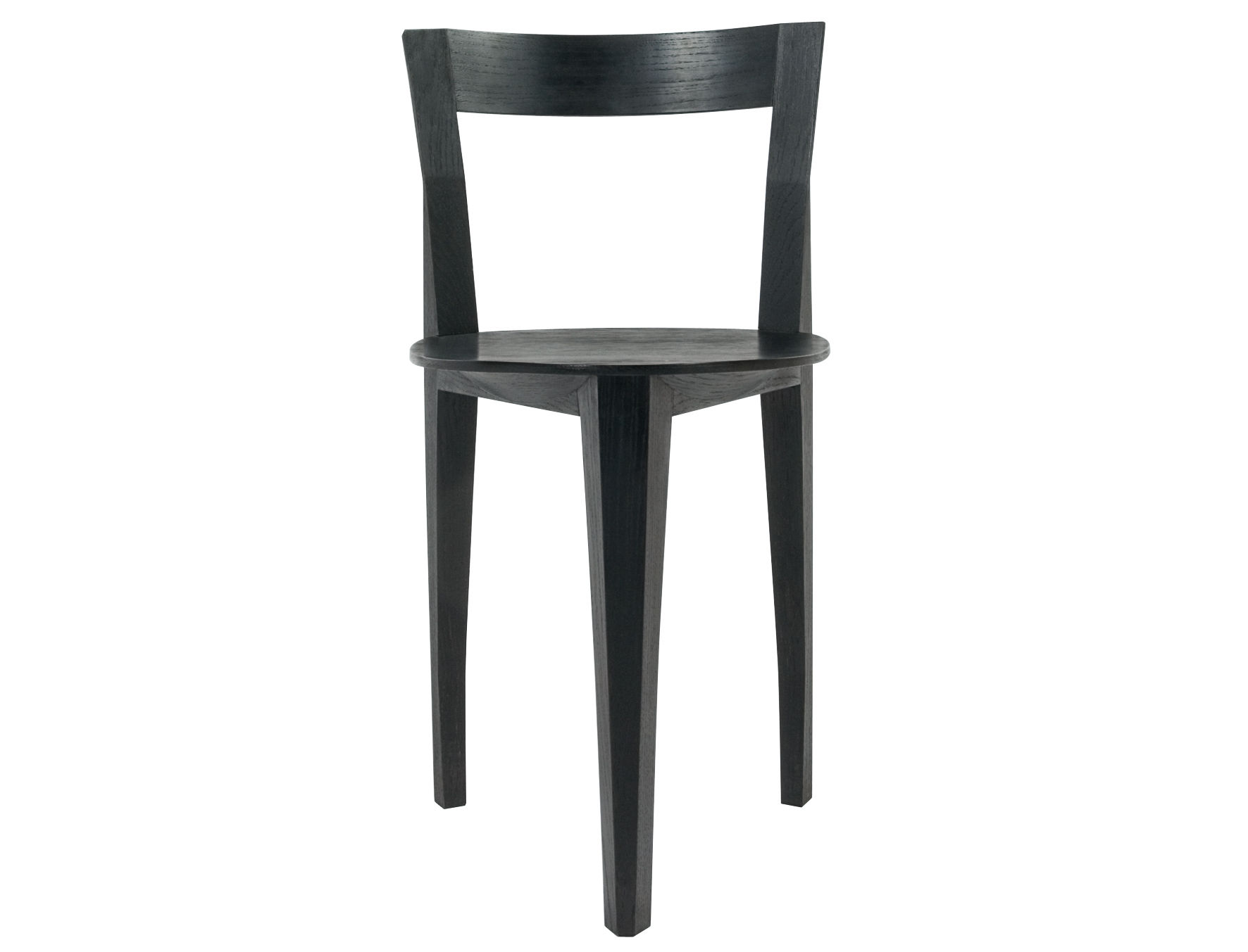 Furniture - Chairs - Petite Gigue Chair - Wood by Moustache - Black - Lacquered oak