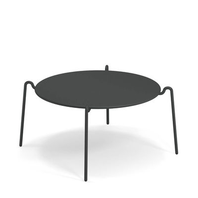 Furniture - Coffee Tables - Rio R50 Coffee table - / Ø 104 cm - Metal by Emu - Antique Iron - Steel
