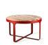 Stoner Coffee table - / Ø 60 x H 35 cm - Travertine stone & metal by Pols Potten