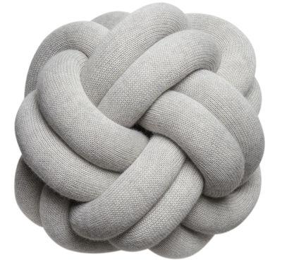 Coussin Knot / Fait main - 30 x 30 cm - Design House Stockholm gris en tissu