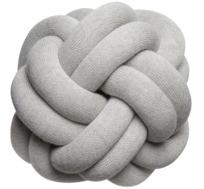 Decoration - Cushions & Poufs - Knot Cushion by Design House Stockholm - Light grey - Acrylic, Wool