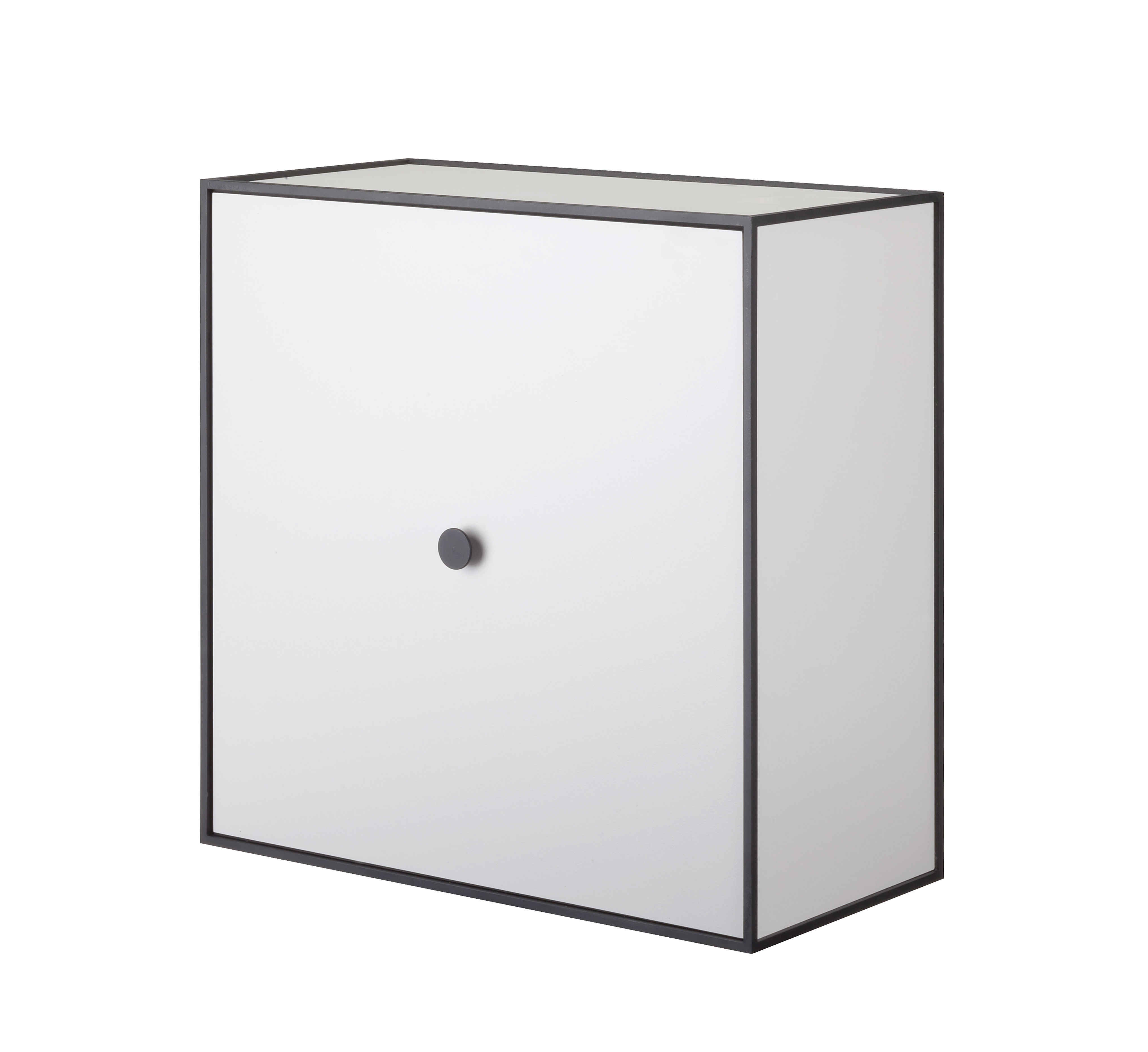 Mobilier - Etagères & bibliothèques - Etagère Frame / Boîte - 42x42 cm - by Lassen - Gris clair - Mélamine, Métal laqué époxy
