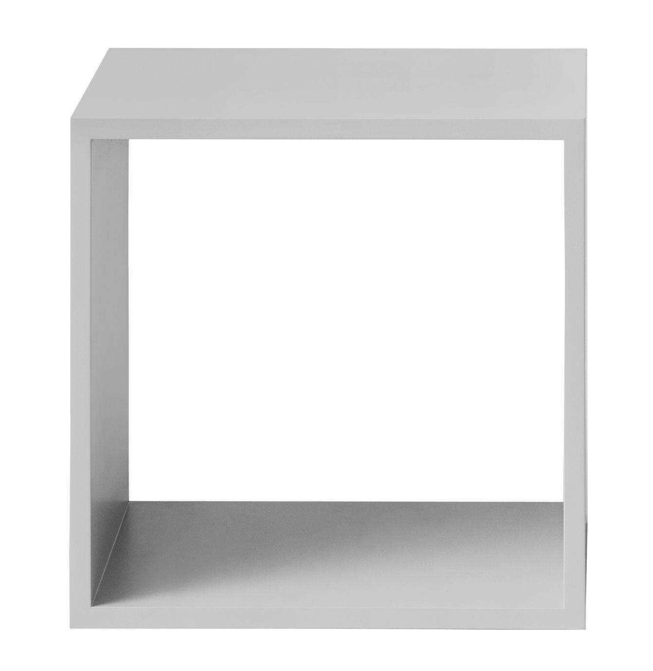 Mobilier - Etagères & bibliothèques - Etagère Stacked 2.0 / Medium carré 43x43 cm / Sans fond - Muuto - Gris clair - MDF peint
