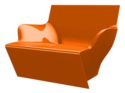 Chaise Kami San version laquée - Slide laqué orange en matière plastique