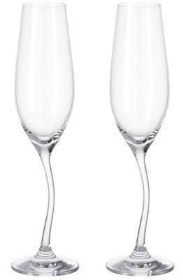Flûte à champagne Modella / Lot de 2 - Leonardo transparent en verre