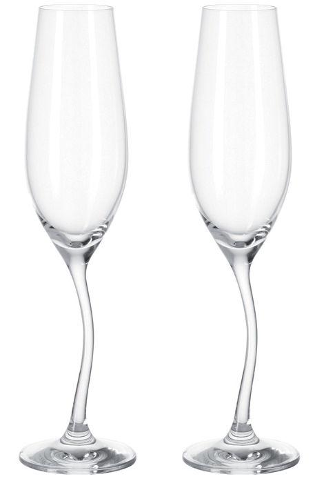 Arts de la table - Verres  - Flûte à champagne Modella / Lot de 2 - Leonardo - Transparent - Verre