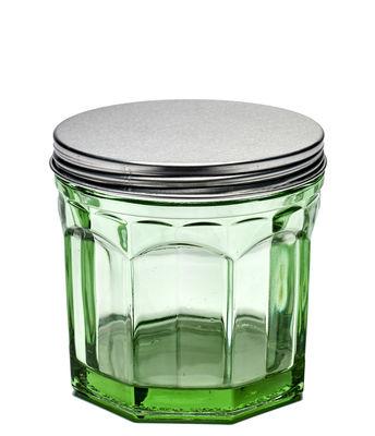 Kitchenware - Kitchen Storage Jars - Fish & Fish Small Jar - H 11,5 cm by Serax - Transparent green / Metal lid - Aluminium, Pressed glass