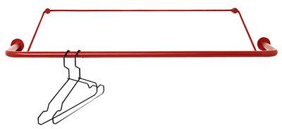 Dekoration - Garderoben und Kleiderhaken - Gravity Kleiderständer Wandgarderobe / L 90 cm - Nomess - Rot - Metall, Polyesterfaser
