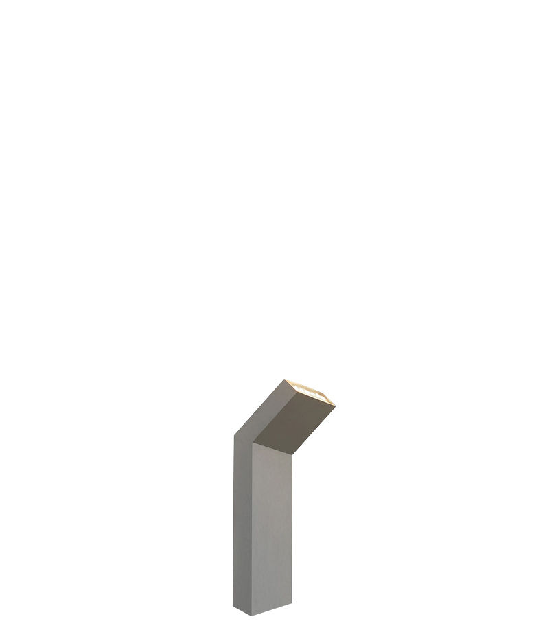 Illuminazione - Illuminazione da esterni - Lampada da pavimento Chilone Up - H 41 cm - Per esterni di Artemide - Alluminio - alluminio verniciato