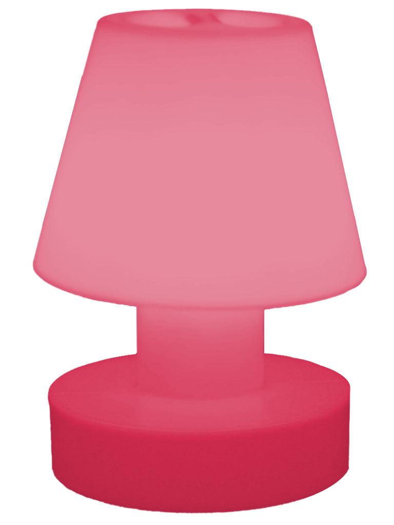 Illuminazione - Lampade da tavolo - Lampada senza fili - portatile senza fili ricaricabile - H 28 cm di Bloom! - Rosa - Polietilene