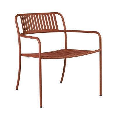 Möbel - Lounge Sessel - Patio Lames Lounge Sessel / Latten - Edelstahl - Tolix - Rehbraun - rostfreier Stahl