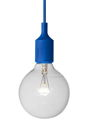 Lighting - Pendant Lighting - E27 Pendant by Muuto - Blue - Silicone