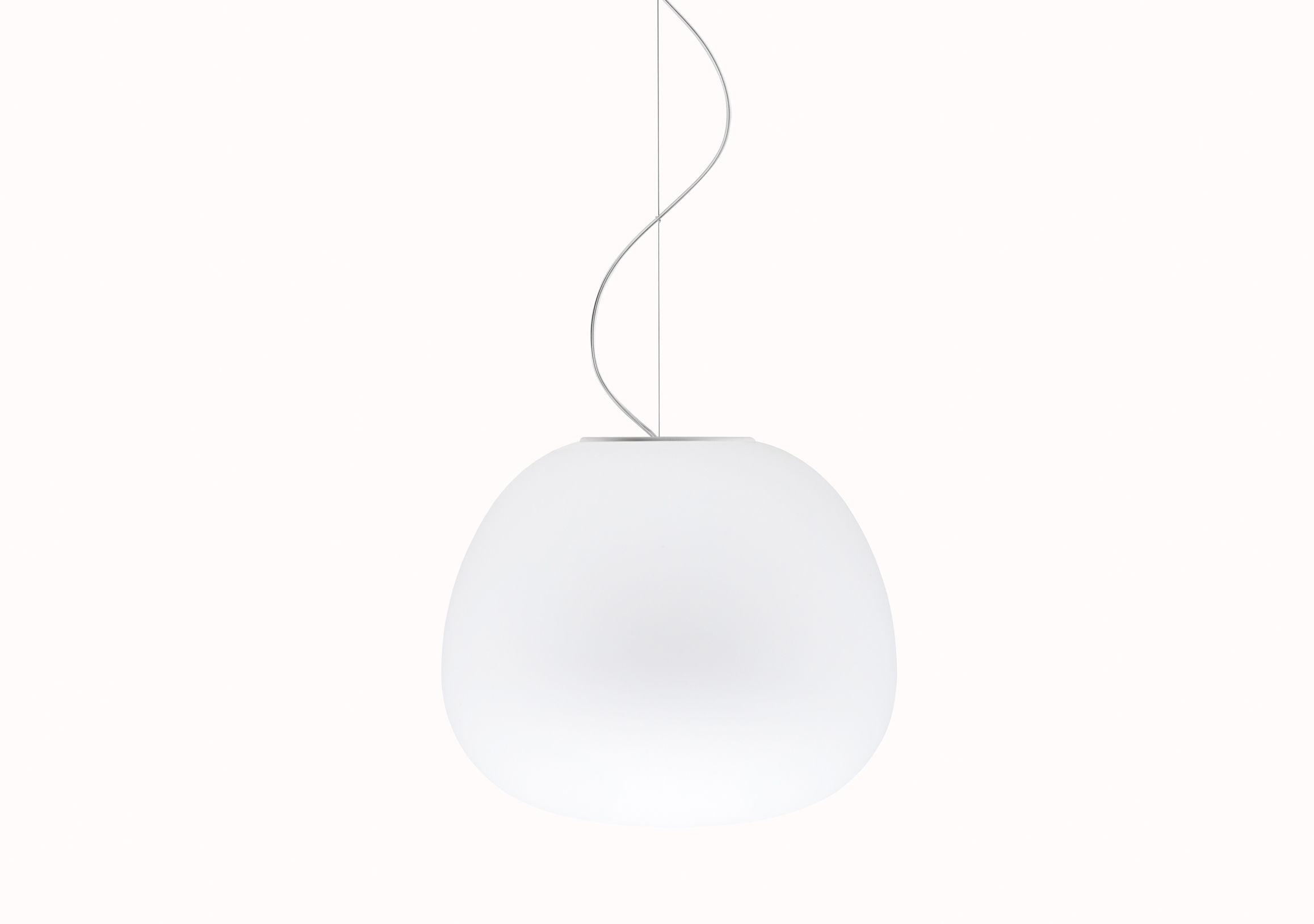 Lighting - Pendant Lighting - Mochi Pendant - Ø 45 cm by Fabbian - White - Ø 45 cm - Glass