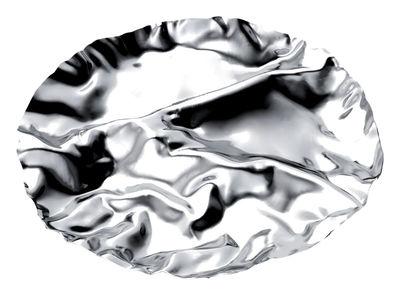 Tischkultur - Platten - Pepa Platte 4 Fächern - Alessi - Edelstahl glänzend - 4 Fächer - polierter rostfreier Stahl