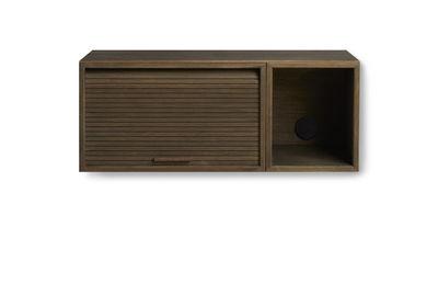 Rangement mural Hifive Slim / Meuble TV - L 75 x H 30 cm - Northern chêne fumé en bois