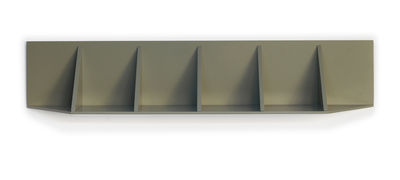 Furniture - Bookcases & Bookshelves - Face 11 Shelf - / W 142 cm by Compagnie - Moss grey - Lacquered MDF
