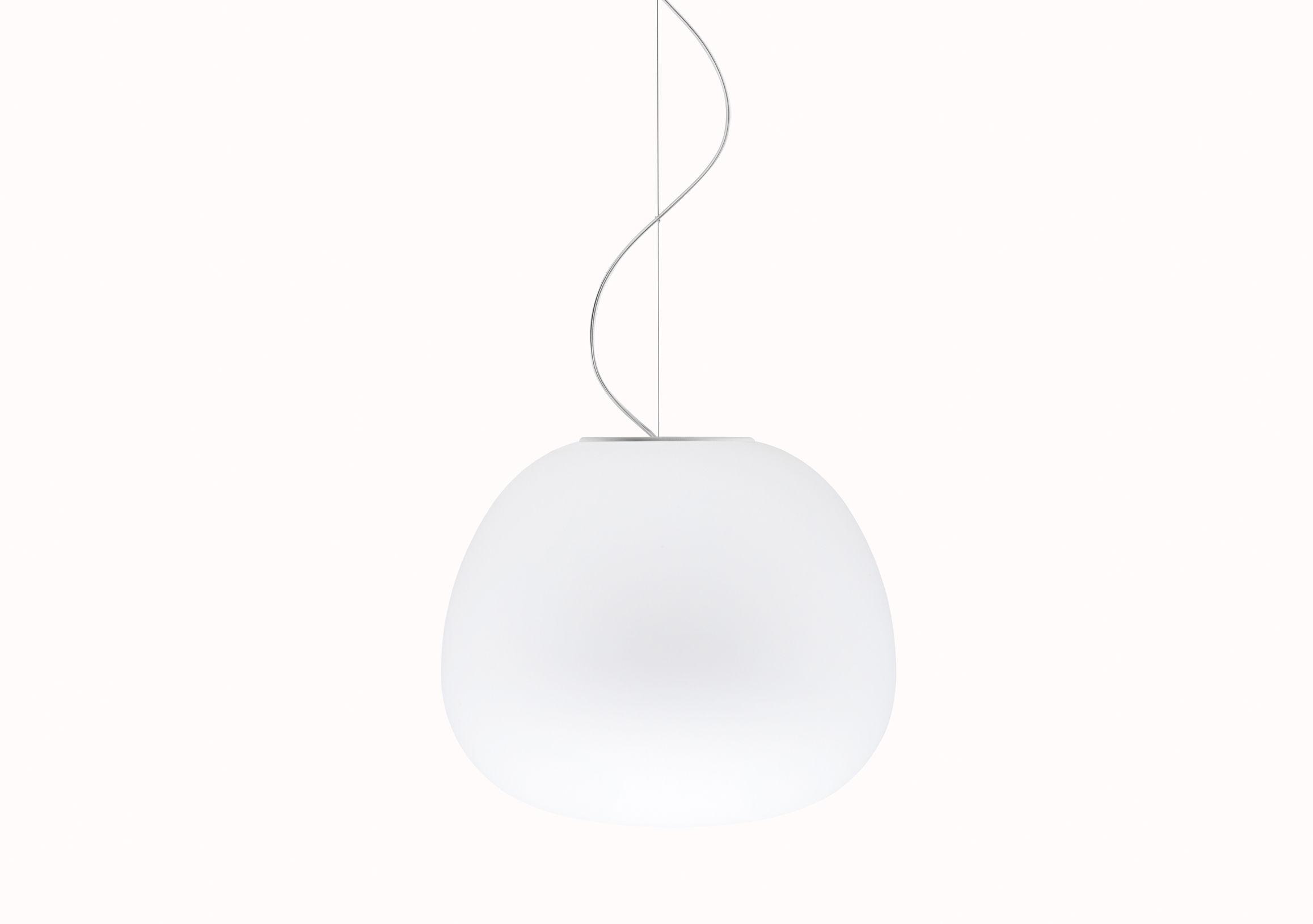 Illuminazione - Lampadari - Sospensione Mochi - Ø 45 cm di Fabbian - Bianco - Ø 45 cm - Vetro