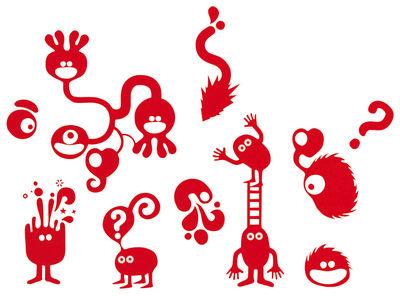 Image of Sticker Woof - 25 x 25 di Domestic - Rosso - Materiale plastico