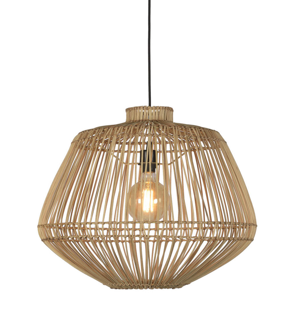 Luminaire - Suspensions - Suspension Madagascar / Rotin - GOOD&MOJO - Naturel - Rotin