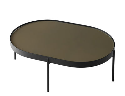 Table basse No-No Large / 96 x 59 x H 35 cm - Menu marron,noir en métal