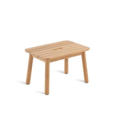 Mobilier - Tables basses - Table basse Pevero / 37 x 54 cm - Teck - Unopiu - Teck - Teck