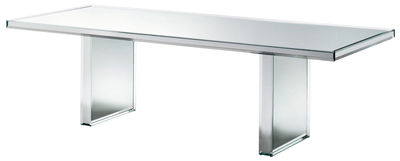 Table rectangulaire Prism Mirror / 240 x 90 cm - Glas Italia miroir en verre