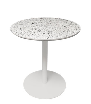 Table ronde Terrazzo / Ø 70 cm - XL Boom blanc en pierre