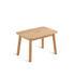 Tavolino Pevero - / 37 x 54 cm - Teak di Unopiu