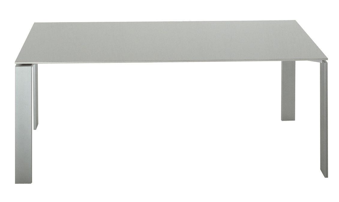 Tavolo Four di Kartell - Alluminio 223 cm - Acciaio, Alluminio