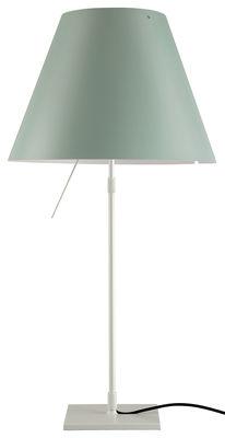Costanza Tischleuchte / Fuß altweiß - Luceplan - Gebrochen weiß,Wassergrün